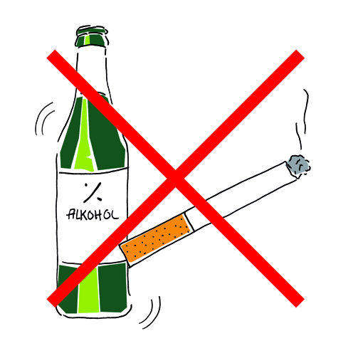 Alkohol-Rauchverbot