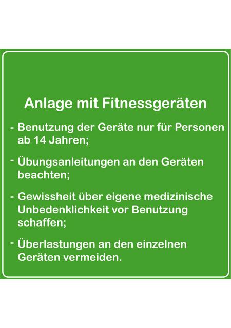 fitness Schild