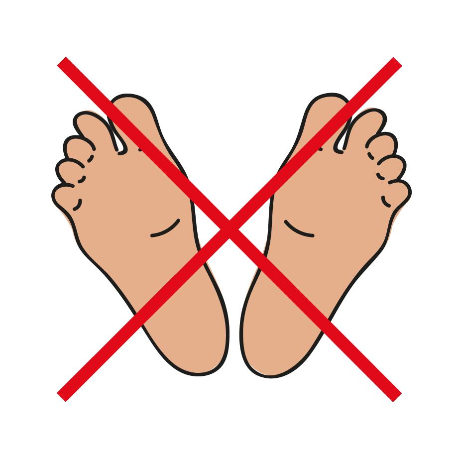 Piktogramm Barfuss laufen verboten