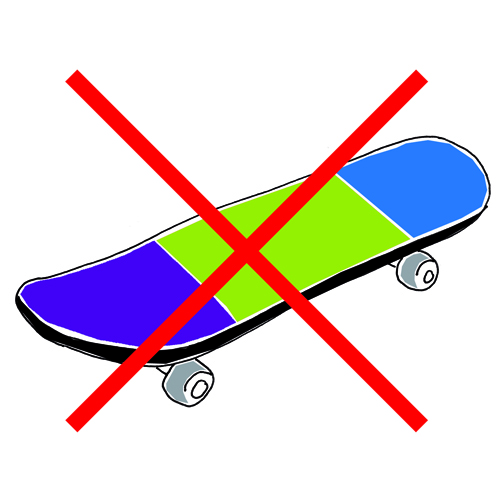 Skateboardverbot