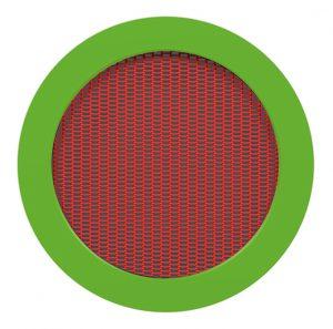 Randplatten grün, Sprungmatte rot