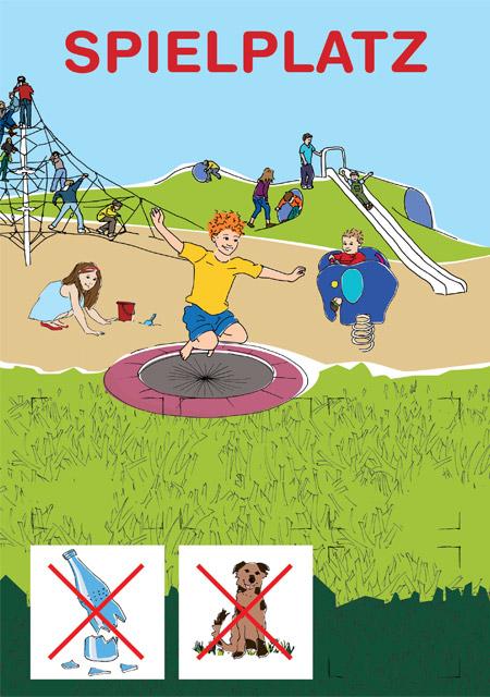 Spielplatz Schild